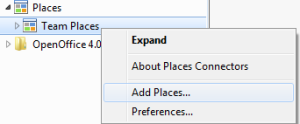 Add Places in Explorer