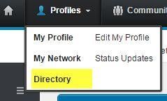 Directory menu