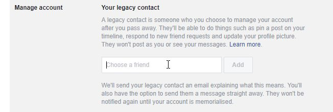Legacy Contact