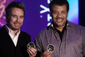Jean-Michel Jarre and Neil deGrasse Tyson