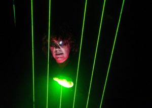 Jean-Michel Jarre playing the laser harp