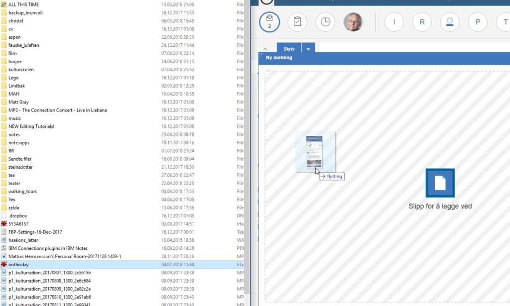 Drag from Dropbox to Verse