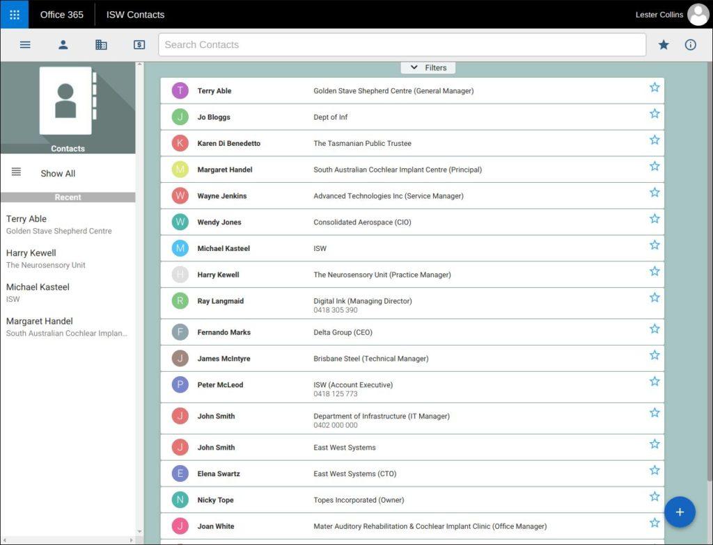 ISW Office 365 app