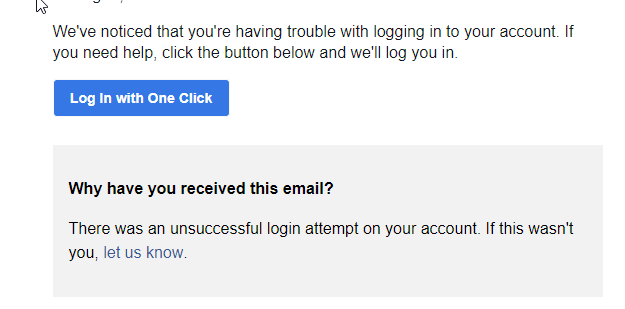 Email from Facebook