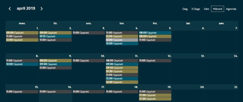Calendar Utrønna