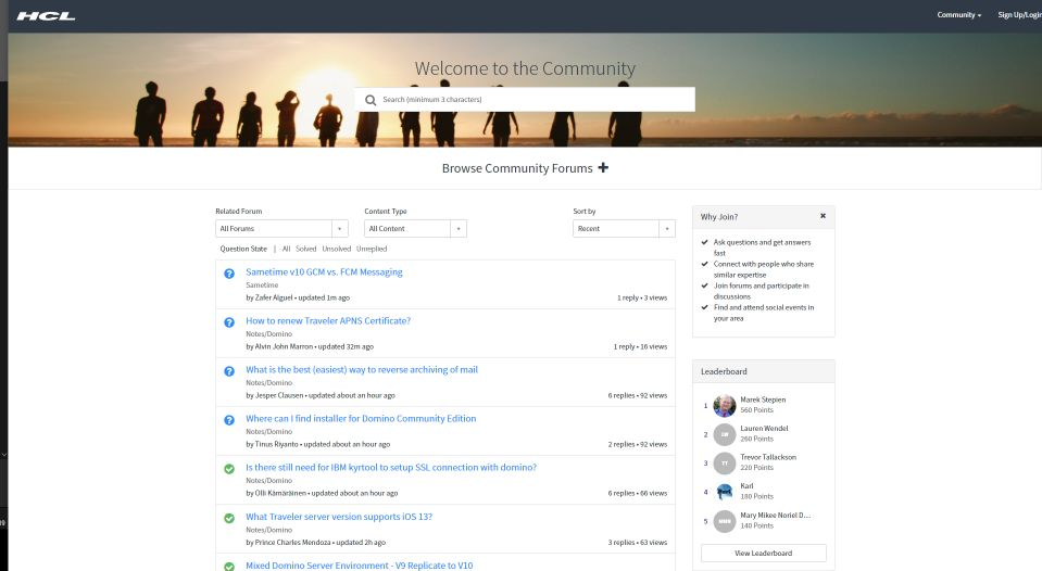 HCL Forums