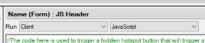 Run JavaScript in client