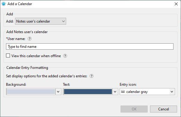Add a calendar window