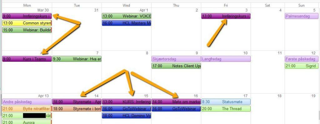 Microsoft Teams Calendar Entries in the HCL Notes Calendar