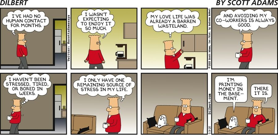 Dilbert Comics Panel about isolation