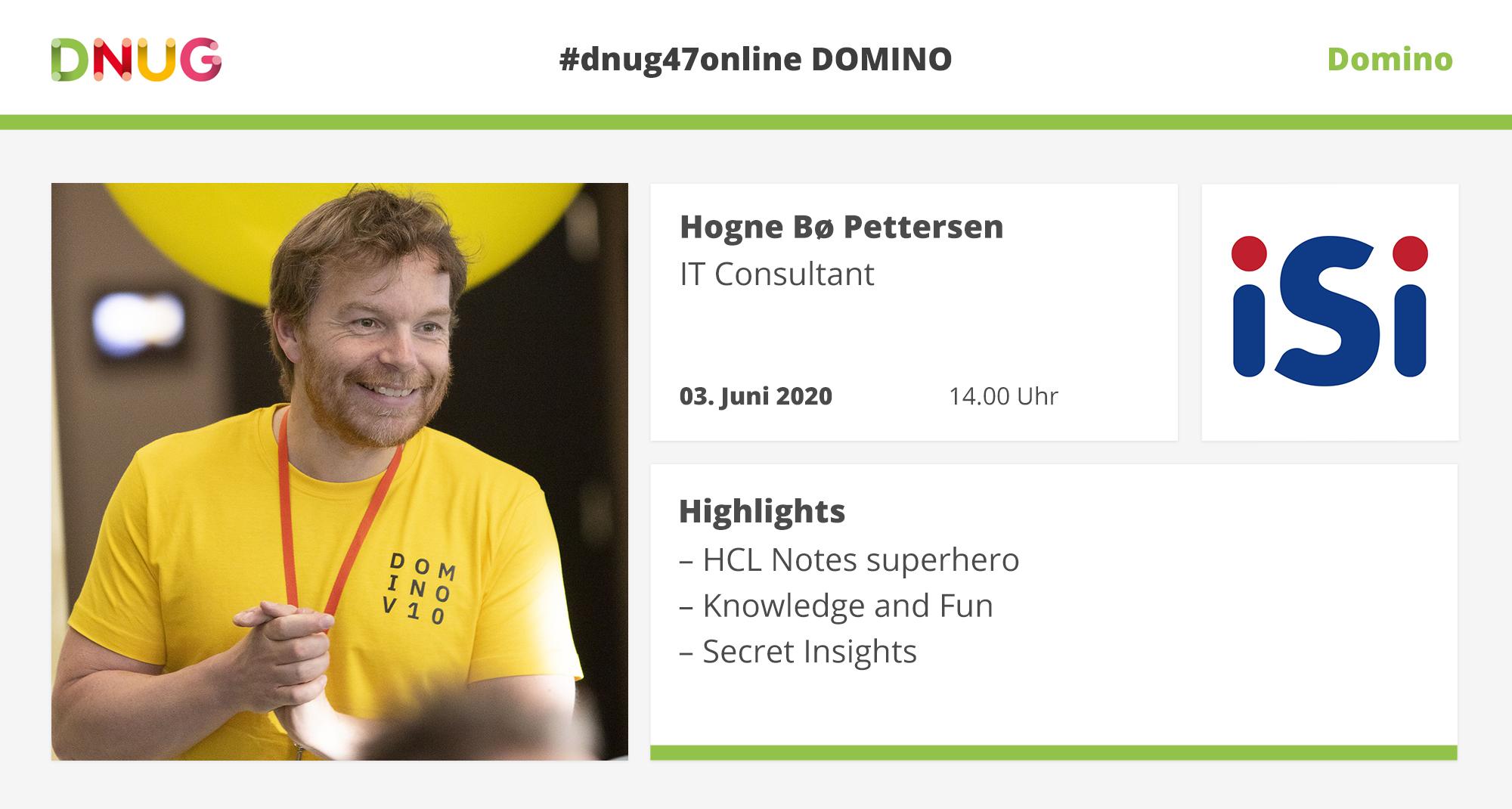 Hogne B. Pettersen at DNUG#47Online