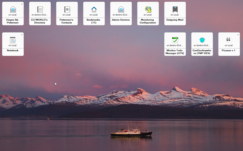 HCL Notes workspace photo of Hurtigruten in Molde