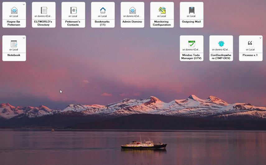 HCL Notes workspace photo of Hurtigruten in Molde