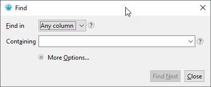 Search box for Notes View or Folder