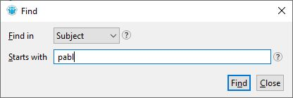 Type to find in HCL Ntoes