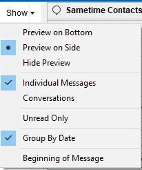 Show action button menu in HCL Notes