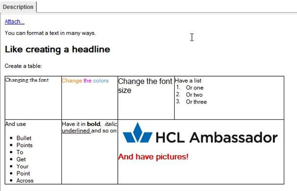 Notes Tips #27: Rich Text Formatting in HCL Notes