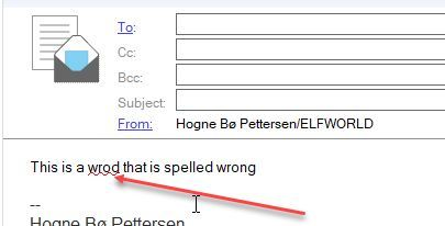 Spell checking a document in HCL Notes