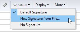 New Signature from File