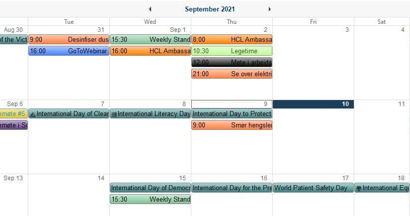 HCL Notes Calendar