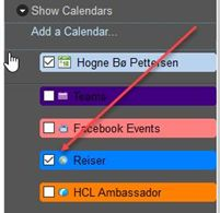 Toggle on and off calendar