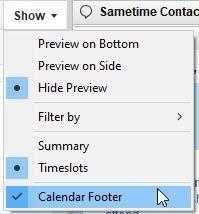 Calendar Footer